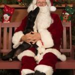 Petey loves Santa